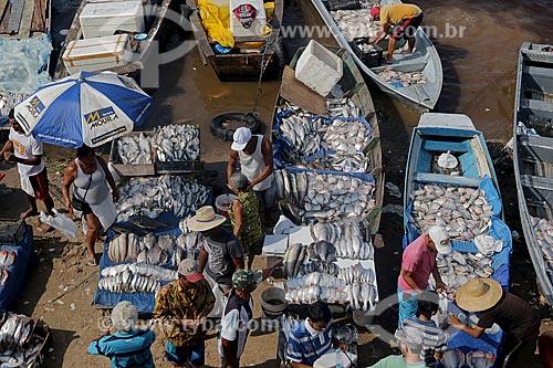 Peixes à venda no Porto de Manaus Moderna  - Manaus - Amazonas (AM) - Brasil