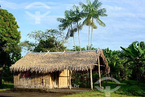 Casa em comunidade ribeirinha às margens do Rio Negro  - Amazonas (AM) - Brasil