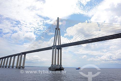 Detalhe de Ponte Jornalista Phelippe Daou (2011) - também conhecida como Ponte Rio Negro  - Manaus - Amazonas (AM) - Brasil