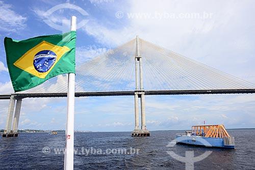 Ponte Jornalista Phelippe Daou (2011) - também conhecida como Ponte Rio Negro  - Manaus - Amazonas (AM) - Brasil