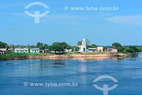 Vista da cidade de Santa Isabel do Rio Negro à partir do Rio Negro  - Santa Isabel do Rio Negro - Amazonas (AM) - Brasil