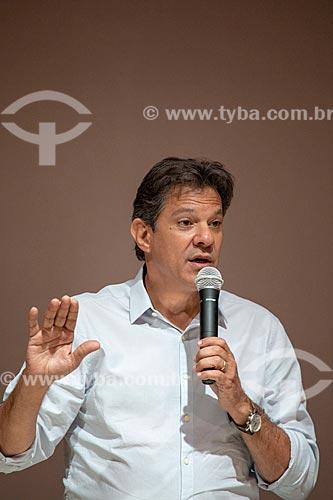 Fernando Haddad - candidato à presidência pelo Partido dos Trabalhadores (PT) - durante debate no Clube de Engenharia do Rio de Janeiro  - Rio de Janeiro - Rio de Janeiro (RJ) - Brasil