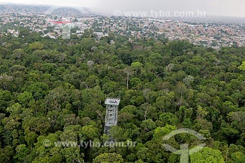 Foto aérea da torre de observação no Museu da Amazônia  - Manaus - Amazonas (AM) - Brasil