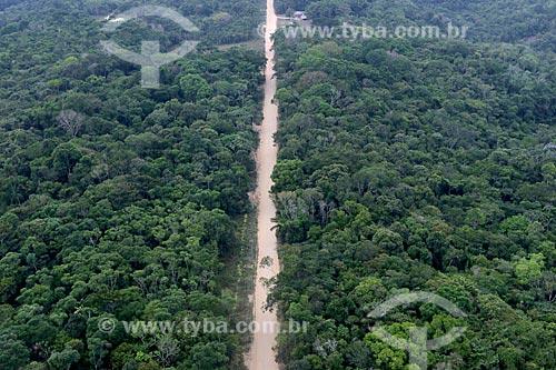 Foto aérea da Rodovia BR-319  - Manaus - Amazonas (AM) - Brasil