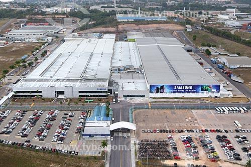 Foto aérea da fábrica da Samsung Electronics no Polo Industrial de Manaus  - Manaus - Amazonas (AM) - Brasil