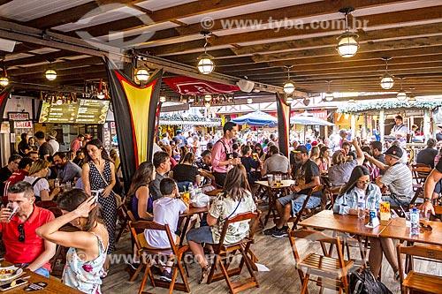 Interior de restaurante no Oktoberfest 2018 no Parque Vila Germânica  - Blumenau - Santa Catarina (SC) - Brasil