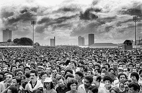 Assembleia na Vila Euclides em São Bernardo do Campo - década de 1980  - São Bernardo do Campo - São Paulo (SP) - Brasil
