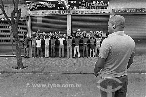 Agente disfarçado do Exército Brasileiro - conhecido como Kojak - atuando na repressão ao movimento grevista dos metalúrgicos  - São Bernardo do Campo - São Paulo (SP) - Brasil