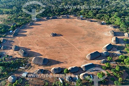 Foto feita com drone da aldeia Aiha da tribo Kalapalo - ACRÉSCIMO DE 100% SOBRE O VALOR DE TABELA  - Querência - Mato Grosso (MT) - Brasil