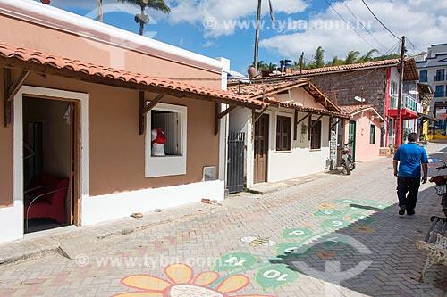 Rua comercial no centro da cidade de Guaramiranga  - Guaramiranga - Ceará (CE) - Brasil