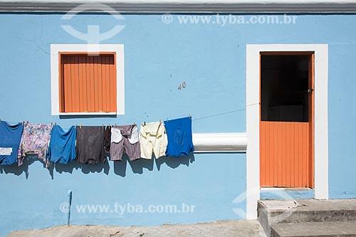 Fachada de casa com varal do lado de fora  - Guaramiranga - Ceará (CE) - Brasil