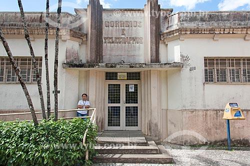 Fachada de agência dos Correios em estilo art déco  - Guaramiranga - Ceará (CE) - Brasil
