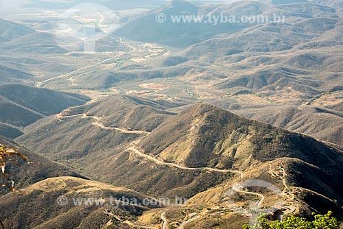 Vista de trecho da Rodovia CE-253  - Guaramiranga - Ceará (CE) - Brasil