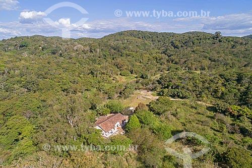 Foto feita com drone da sede do Sítio Batalha na Área de Proteção Ambiental da Serra de Baturité  - Guaramiranga - Ceará (CE) - Brasil