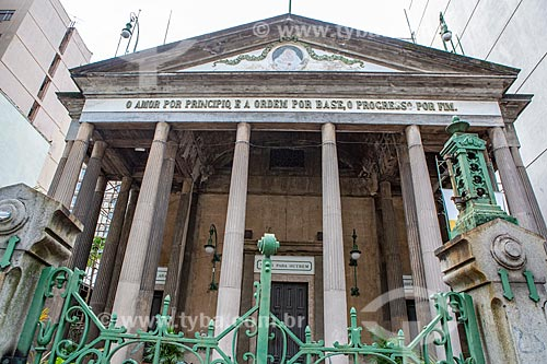 Fachada da Igreja Positivista do Brasil (1897) - também conhecido como Templo da Humanidade  - Rio de Janeiro - Rio de Janeiro (RJ) - Brasil