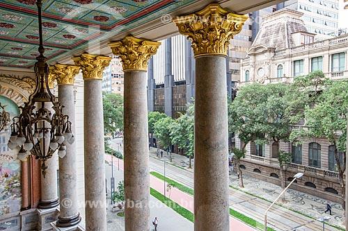 Vista do Museu Nacional de Belas Artes (1938) a partir da varanda lateral do Theatro Municipal do Rio de Janeiro  - Rio de Janeiro - Rio de Janeiro (RJ) - Brasil