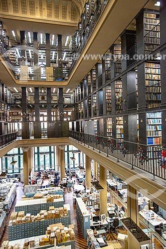 Interior da Biblioteca Nacional (1910) - Setor de Obras Gerais  - Rio de Janeiro - Rio de Janeiro (RJ) - Brasil