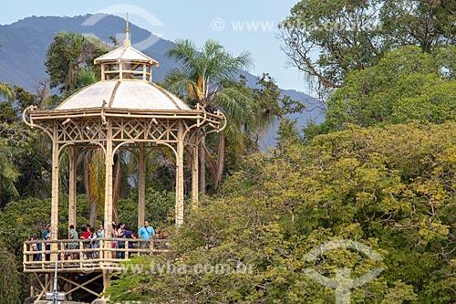 Vista do coreto da Quinta da Boa Vista - também conhecido como Pagode Chinês  - Rio de Janeiro - Rio de Janeiro (RJ) - Brasil
