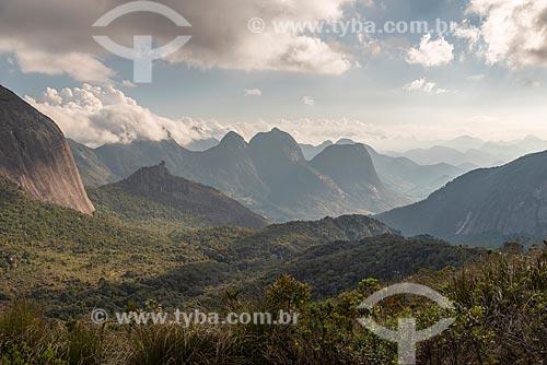 Vista do Três Picos de Salinas no Parque Estadual dos Três Picos  - Teresópolis - Rio de Janeiro (RJ) - Brasil