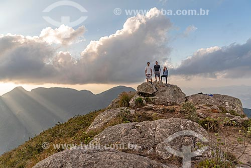 Grupo de amigos no Parque Estadual dos Três Picos  - Teresópolis - Rio de Janeiro (RJ) - Brasil