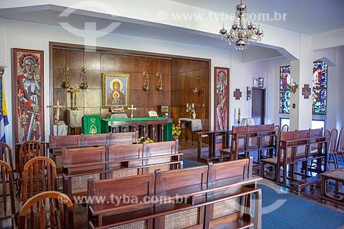 Interior da capela da Escola Naval na Ilha de Villegagnon  - Rio de Janeiro - Rio de Janeiro (RJ) - Brasil