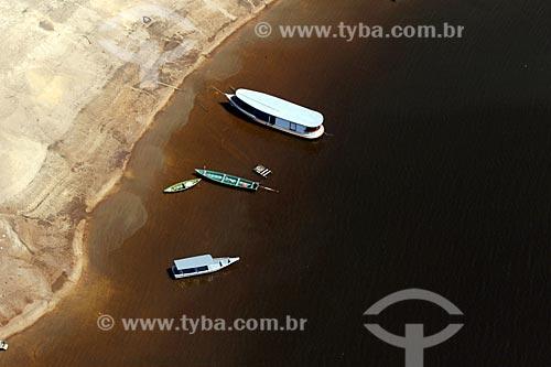 Foto aérea do Rio Negro durante época da vazante  - Manaus - Amazonas (AM) - Brasil