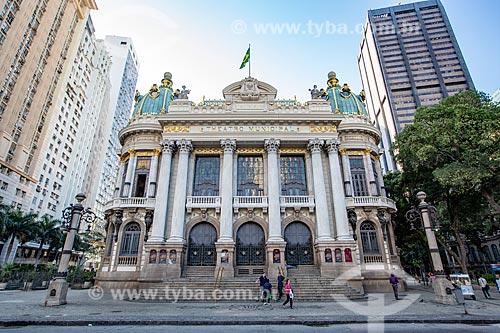 Fachada do Theatro Municipal do Rio de Janeiro (1909)  - Rio de Janeiro - Rio de Janeiro (RJ) - Brasil