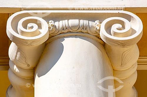 Detalhe de coluna na fachada do Instituto Benjamin Constant  - Rio de Janeiro - Rio de Janeiro (RJ) - Brasil