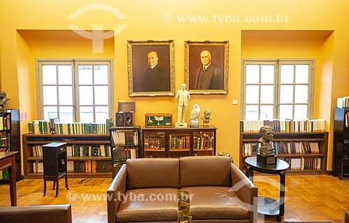 Interior da Biblioteca Acadêmica Lúcio de Mendonça da Academia Brasileira de Letras (ABL)  - Rio de Janeiro - Rio de Janeiro (RJ) - Brasil