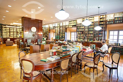 Sala de leitura no interior da Biblioteca Acadêmica Lúcio de Mendonça da Academia Brasileira de Letras (ABL)  - Rio de Janeiro - Rio de Janeiro (RJ) - Brasil