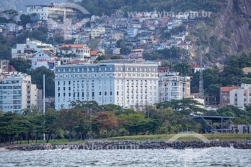 Vista do Glória Palace Hotel (1922) a partir da Baía de Guanabara  - Rio de Janeiro - Rio de Janeiro (RJ) - Brasil