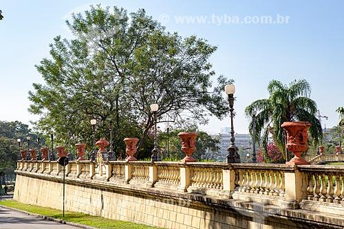 Vista do jardim externo do Museu Nacional - antigo Paço de São Cristóvão  - Rio de Janeiro - Rio de Janeiro (RJ) - Brasil