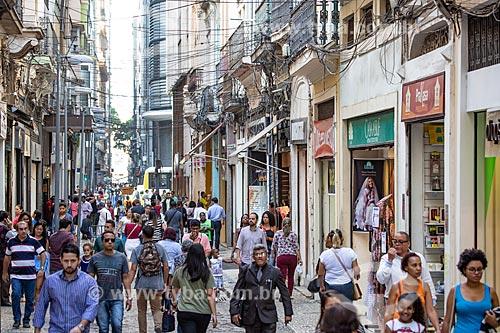 Pedestres na Rua do Ouvidor próximo à Rua Gonçalves Dias  - Rio de Janeiro - Rio de Janeiro (RJ) - Brasil