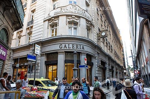 Fachada do Edifício Galeria SulAmérica - esquina da Rua do Ouvidor com a Rua da Quitanda  - Rio de Janeiro - Rio de Janeiro (RJ) - Brasil