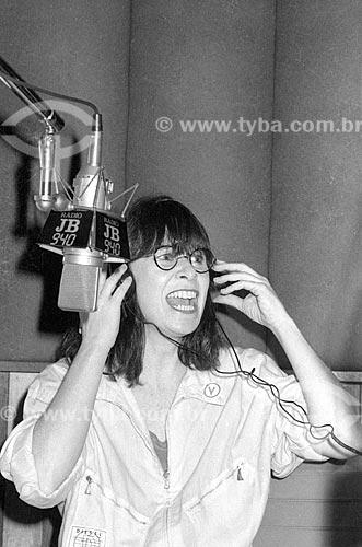 Cantora Rita Lee nos estúdios da Rádio Jornal do Brasil - década de 80  - Rio de Janeiro - Rio de Janeiro (RJ) - Brasil