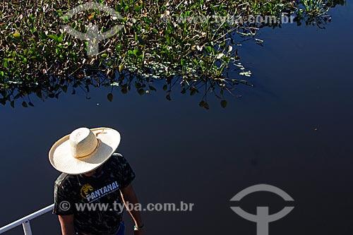 Pesca de piranha no corixo São Domingos - afluente do Rio Miranda  - Miranda - Mato Grosso do Sul (MS) - Brasil