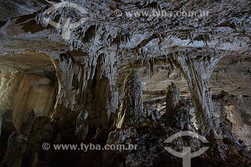 Estalactites no interior da Grutas de São Miguel  - Bonito - Mato Grosso do Sul (MS) - Brasil