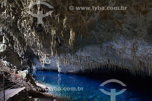 Interior da Gruta do Lago Azul  - Bonito - Mato Grosso do Sul (MS) - Brasil