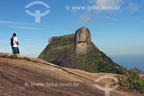Vista do Pedra da Gávea durante trilha no Parque Nacional da Tijuca  - Rio de Janeiro - Rio de Janeiro (RJ) - Brasil