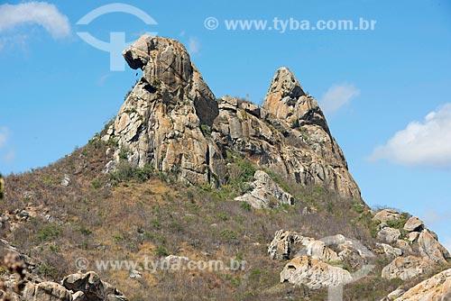 Vista da Pedra da Galinha Choca - parte do Monumento Natural dos Monólitos de Quixadá  - Quixadá - Ceará (CE) - Brasil