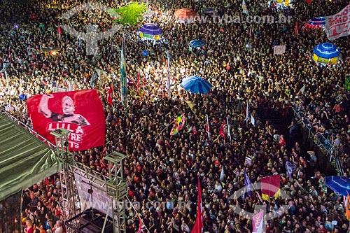 Comício Ato da Virada com Fernando Haddad - candidato à presidência pelo Partido dos Trabalhadores (PT)  - Rio de Janeiro - Rio de Janeiro (RJ) - Brasil