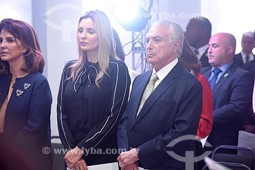 Marcela Temer e o Presidente Michel Temer durante a solenidade pelos 87 anos do Cristo Redentor  - Rio de Janeiro - Rio de Janeiro (RJ) - Brasil
