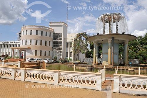 Fachada do Palácio das Águas - estação de tratamento de água - com o aerador à direita  - São José do Rio Preto - São Paulo (SP) - Brasil