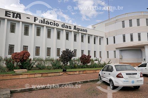 Fachada do Palácio das Águas - estação de tratamento de água  - São José do Rio Preto - São Paulo (SP) - Brasil