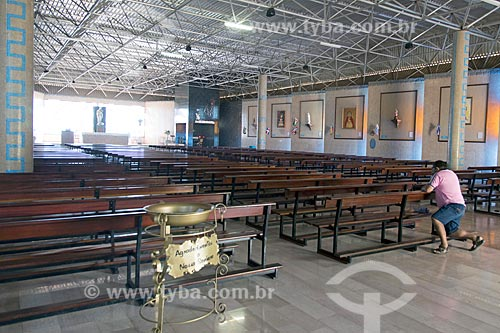 Interior do Santuário de Nossa Senhora Imaculada Rainha do Sertão (1995)  - Quixadá - Ceará (CE) - Brasil
