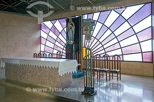 Altar do Santuário de Nossa Senhora Imaculada Rainha do Sertão (1995)  - Quixadá - Ceará (CE) - Brasil