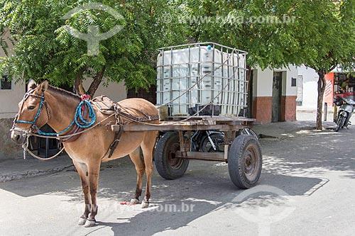 Carroça com tanque de água para vender  - Quixadá - Ceará (CE) - Brasil