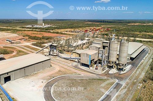 Foto feita com drone da Votorantim Cimentos - parte do Complexo Industrial e Portuário do Pecém  - Caucaia - Ceará (CE) - Brasil