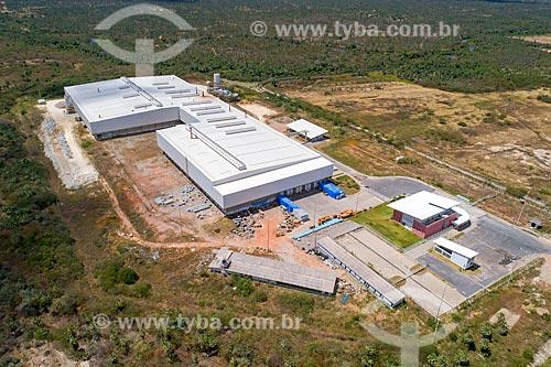 Foto feita com drone da Companhia Sulamericana de Cerâmica - parte do Complexo Industrial e Portuário do Pecém  - Caucaia - Ceará (CE) - Brasil