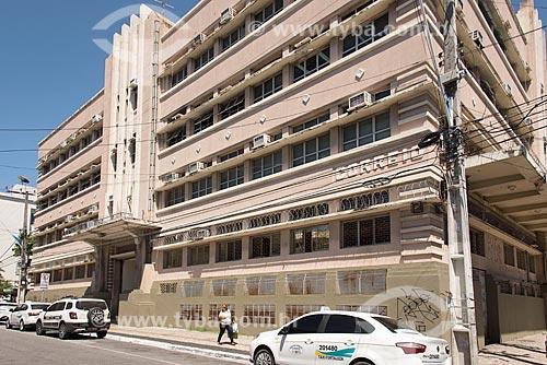 Fachada do Edifício Central dos Correios (Empresa Brasileira de Correios e Telégrafos) em estilo art déco  - Fortaleza - Ceará (CE) - Brasil